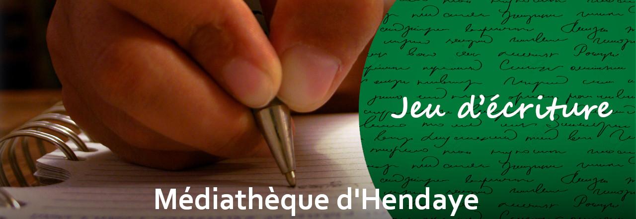 Visuel Jeu d'écriture médiathèque d'Hendaye